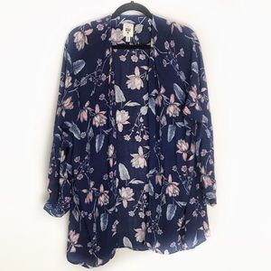 Billabong floral open cardigan